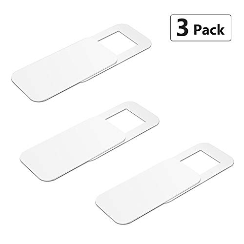 Webcam Cover, Pandawill 3 pack Web Camera Cover slide for Laptop, Desktop, PC, Macboook Pro, iMac, Mac Mini, Computer, Smartphone, protecting Privacy and Securtiy, Strong Adhensive(White)