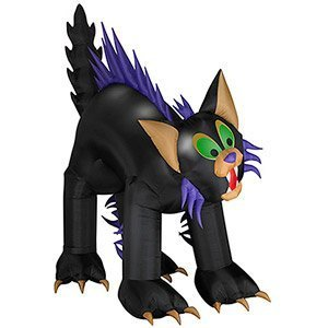 Halloween Yard Decoration Inflatable AIirblown Animated Brat Black Cat 10'ft. Tall