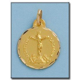 Médaille D'or 18kt Cristo De La Laguna 19mm