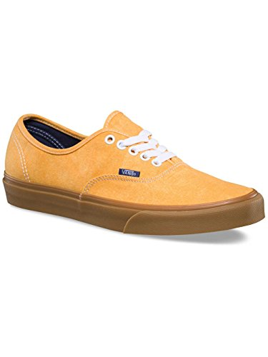 Vans UA Authentic, Zapatillas Para Hombre (washed Canvas) Citrus/gum