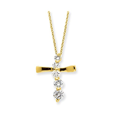 Designer Vermeil Cross - ICE CARATS 925 Sterling Silver Vermeil Cross Religious Journey Chain Necklace Pendant Charm Crucifix Fine Jewelry Ideal Gifts For Women Gift Set From Heart