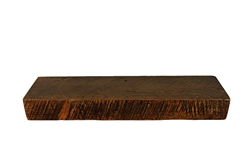 Rustic Floating Mountable Wood Shelf, Antique, Pine, 24' X 7' X 3'