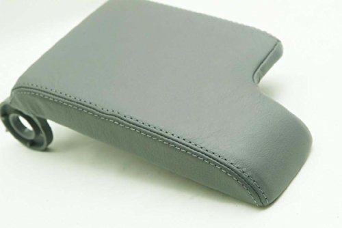 Fits 1999-2004 BMW E46 Real Gray Leather Console Lid Armrest Cover (Leather Part Only)
