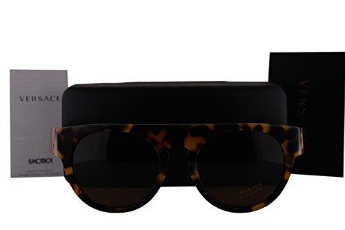 Versace VE4333 Sunglasses Havana White Black w/Brown Lens 523173 VE - Sunglasses Versace White