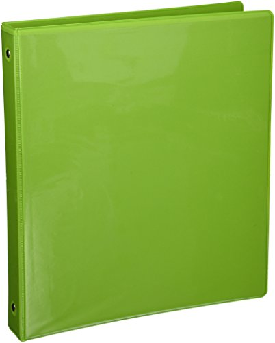 "BAZIC 1"" Lime Green 3-Ring View Binder w/ 2-Pockets"