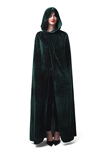 Nuoqi Mens Halloween Costumes Unisex Adults Cosplay Green Cape Cosplay Costumes by Nuoqi
