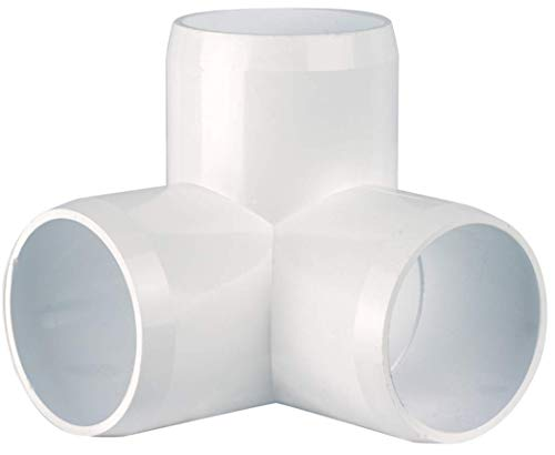 "- CIRCOPACK 2 pieces, 1½"" 3 way PVC Elbow Fitting Connectors Furniture Grade"