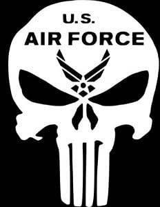 Amazoncom US Air Force Punisher Skull Decal VinylU.s. Air Force Logo Black And White