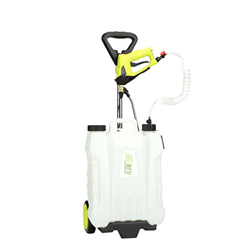 Shower 4-Gallon Multi-Use Continuous-Pressure Backpack & Rolling Lithium-Ion Sprayer Battery Garden Sprayers