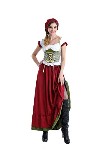 Halloween German Beer Festival Bar Party Costumes Dress Bavaria Traditional Maid Costumes -