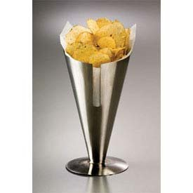 American Metalcraft SSFC9 American Metalcraft SSFC9 Conical Snack Holder, Slotted, 5'' Diameter, 8-3/4'' Height, Stainless Steel,
