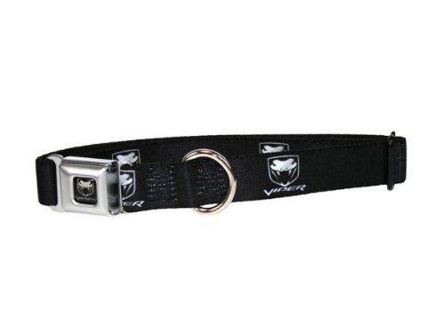 Dodge Viper Seatbelt Buckle Dog Collar - Small (9-15 inch neck)