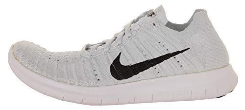 Donna Corsa Scarpe Nike Platino Wmns Platinum pure Free Black RN Nero White Bianco Flyknit da wqUT0Yq