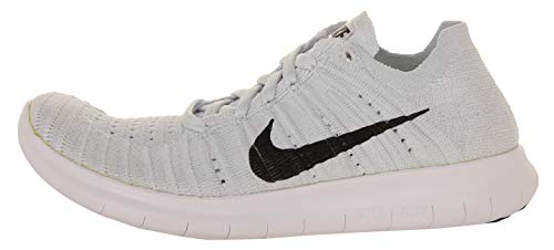 Corsa da RN Bianco Flyknit Scarpe Nero Nike Platinum Wmns White Free pure Platino Donna Black nEX8wqnRYW