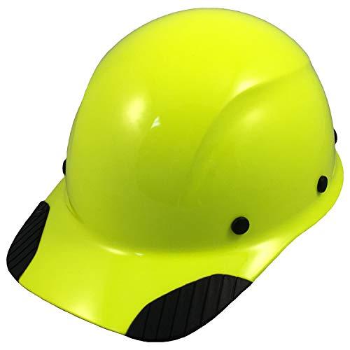 Texas America Safety Company DAX Fiberglass Composite Hard Hat - Cap Style Hi Viz Lime