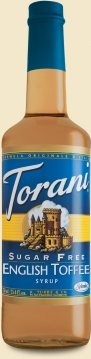 (Torani English Toffee Syrup Sugar Free)