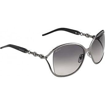 5a02aeaba6c GUCCI Sunglasses 4250 S 0KJ1 Ruthenium 60MM  Amazon.co.uk  Clothing