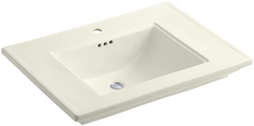 KOHLER K-2269-1-96 Memoirs Bathroom Sink with Stately Design and Single-Hole Faucet Drilling, Biscuit ()