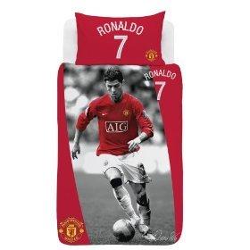 Manchester United Fc C Ronaldo Bettwasche 137x200 75x50 Neu