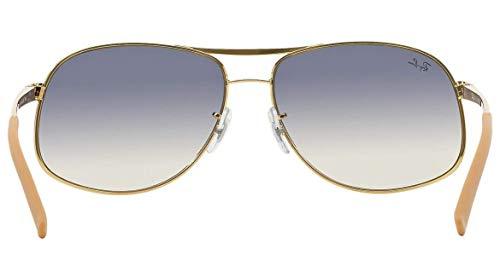 089f4b1383 Amazon.com  Ray-Ban RB3387 - 077 7B Sunglasses Gold White w  Blue Silver  Gradient Lens 64mm  Shoes