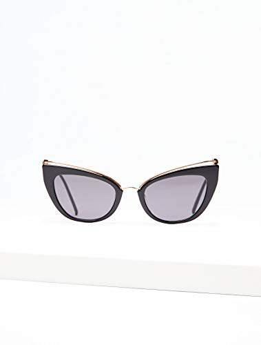 Max Mara MM Marilyn/G 2M2 Black/Gold MM MARILYN/G Cats Eyes Sunglasses Lens C (Max Mara Designer)