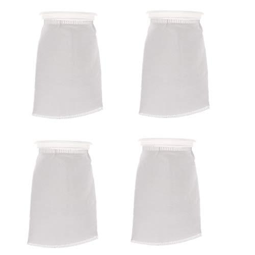 B Blesiya 4 pcs 4 Inch Ring by 9 Inch Long Aquarium Tank Water Filter Bag Improve Water Quality 150um by B Blesiya