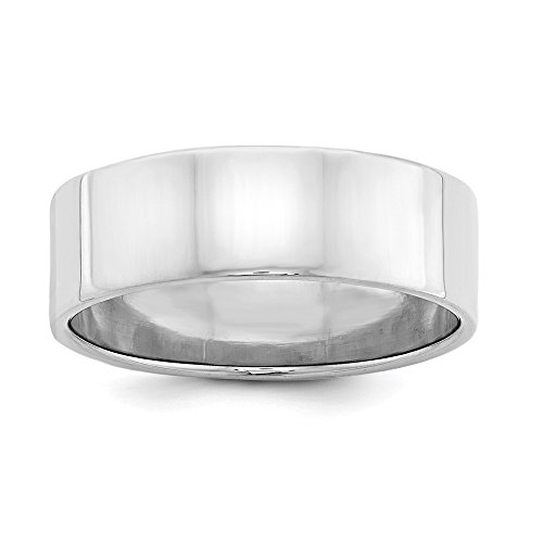 Sterling Silver 7mm Flat Band - 6