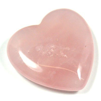 Rose Quartz Heart (3/4