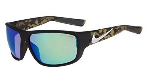 Nike Mercurial 8.0R Sonnenbrille Matt Schwarz mit Grün Spiegel Objektiv EV0783002 cCmW1iWC