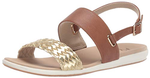 Aerosoles A2 Women's First Watch Flat Sandal, Dark Tan Combo, 10 M US