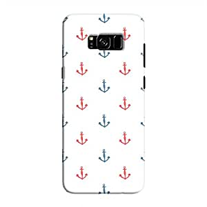 Cover It Up - Red&White Anchors Clear Galaxy S8Hard Case