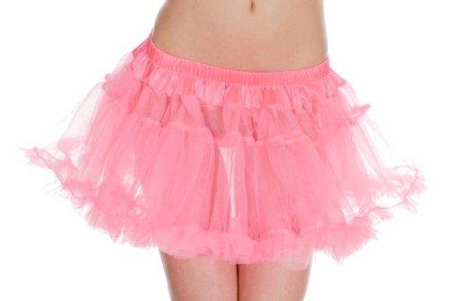 MUSIC LEGS Women's Double Layered Mesh Petticoat