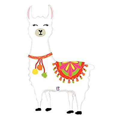 "Happy Llama Foil Balloon, Huge 45"" Party Fiesta Decoration: Toys & Games"