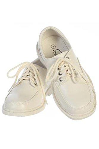 Boys Lace Up Matte Dress Shoes (11T, Ivory) ()