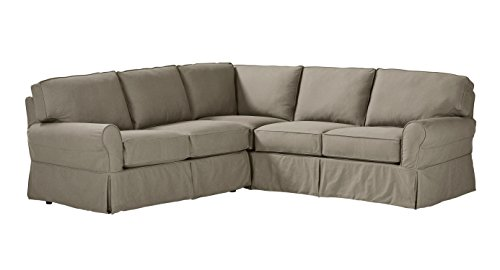 Stone & Beam Carrigan Modern Slipcover Sectional Sofa, 103