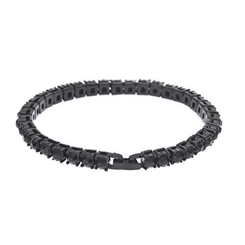 ZhixiaYS Hip Hop Men Bracelet Series Rhinestone Bracelet Chain Bling Crystal Bracelet Roman Style