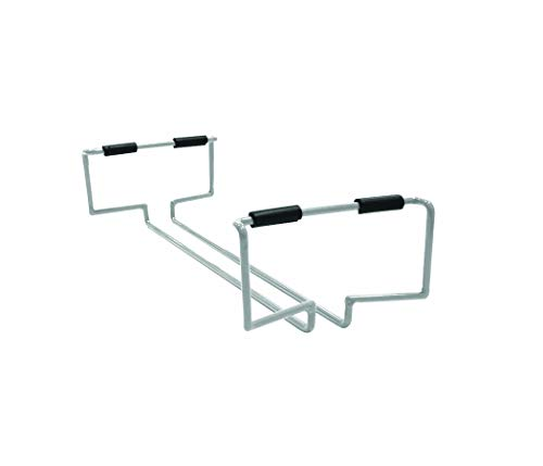 - Atlantic 23308046 Cart System Removable 3 Glass Wire Wine Rack PN23308046 in Light Gray