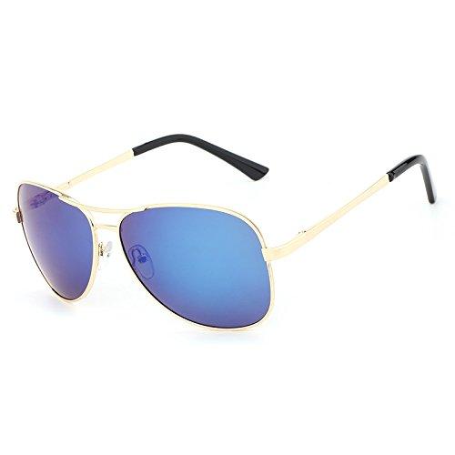 Metal Protector Clásico Gafas de JCH Diseñador Gafas Vestuario para Sol polarizadas Gold de Piloto Sol Gafas de de Hombre conducción de blue UV400 qPxw4Pa