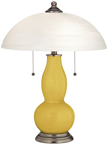 Nugget Gourd-Shaped Table Lamp with Alabaster (Nugget Pedestal)