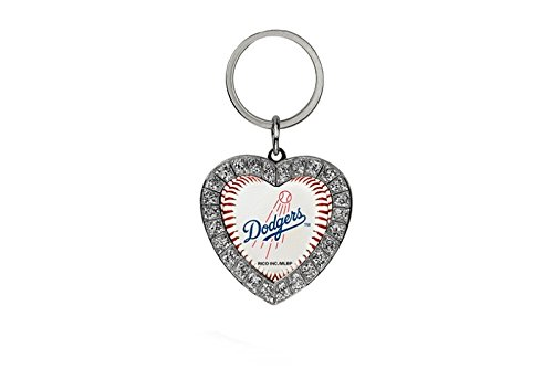 Rico MLB Los Angeles Dodgers Rhinestone Heart Keychain, used for sale  Delivered anywhere in Canada