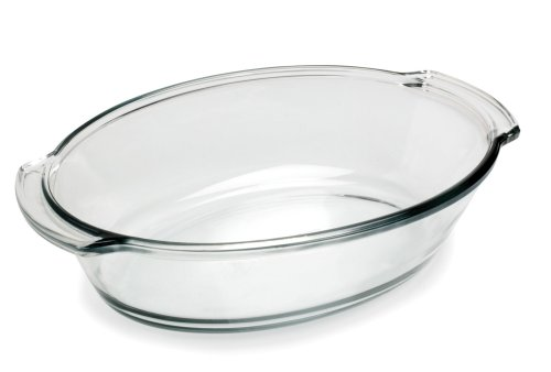 Anchor Hocking Oven Basics 4 Quart Oval Roaster, Crystal Clear 4 Quart Oval Roaster
