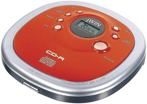 Jwin JXCD313RED Personal CD Player, Red