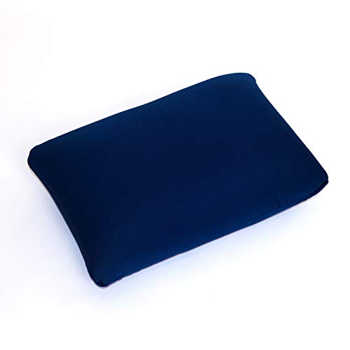Cushie Pillows 13.5 inches x 10 inches Microbead Squishy/Flexible/Comfortable Rectangle Pillow - Navy Blue]()