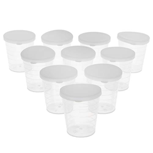 Flameer 10pcs Graduated Beakers Measuring Cups