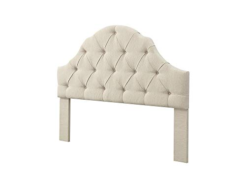 Rаvеnnа Hоmе Home Decor Wolcott Adjustable Height Arched Tufted Headboard, King or California King, Beige California King Metallic Headboard