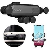 suporte celular por gravidade fácil usar na saída de ar condicionado do carro suporte para ar celular smart fone