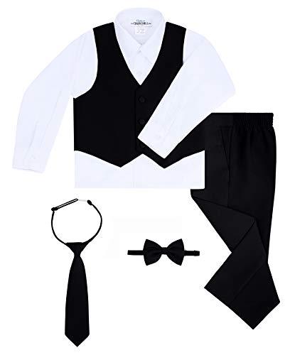 Boy's 6-Piece Suit Set- Black, 12