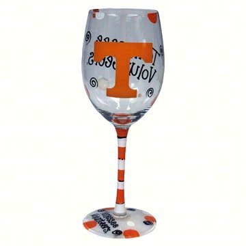 Game Day Outfitters NCAA Tennessee Volunteers Drinkware Wine Glass, One Size/12 oz, Multicolor