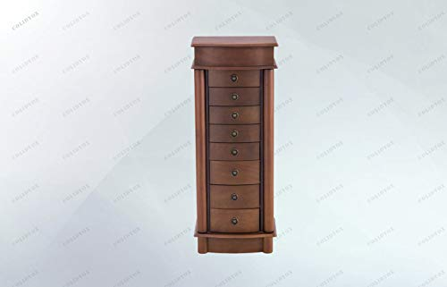- COLIBROX>>>Jewelry Wood Cabinet Armoire Storage Chest Box This is Our Newly Designed Jewelry Cabinet with Mirror on top, which Serves as a Perfect Example for Large Storage Capacity