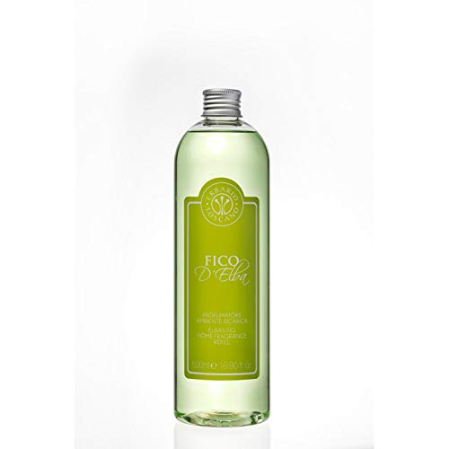 Erbario Toscano Elba'S Fig Diffuser Refill 500ml - All Natural Italian Made Luxury Home Fragrance and Scent - Aromatherapy and Air Freshener